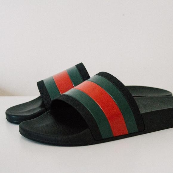 7124d2feb5e8 Gucci Rubber Slide Sandal